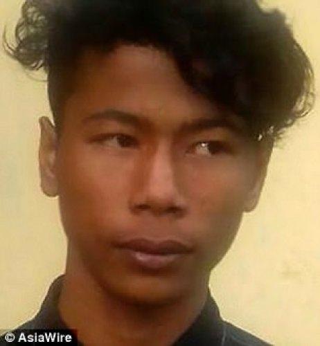 Se dice que el sospechoso, llamado Chhoen Chanseng (en la foto), violó a la novia