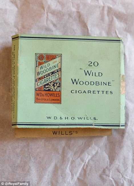 The three cigarette packets were found during a renovation project which includes rewiring the palace