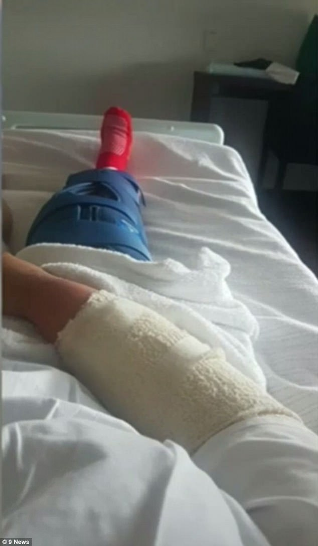 She will undergo surgery to fix the ruptured ligaments, after another surgery to repair her arm