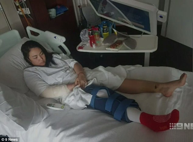 Ms Doktor-Naron was left with ruptured ligaments in her knee, fractured ribs and a broken arm.