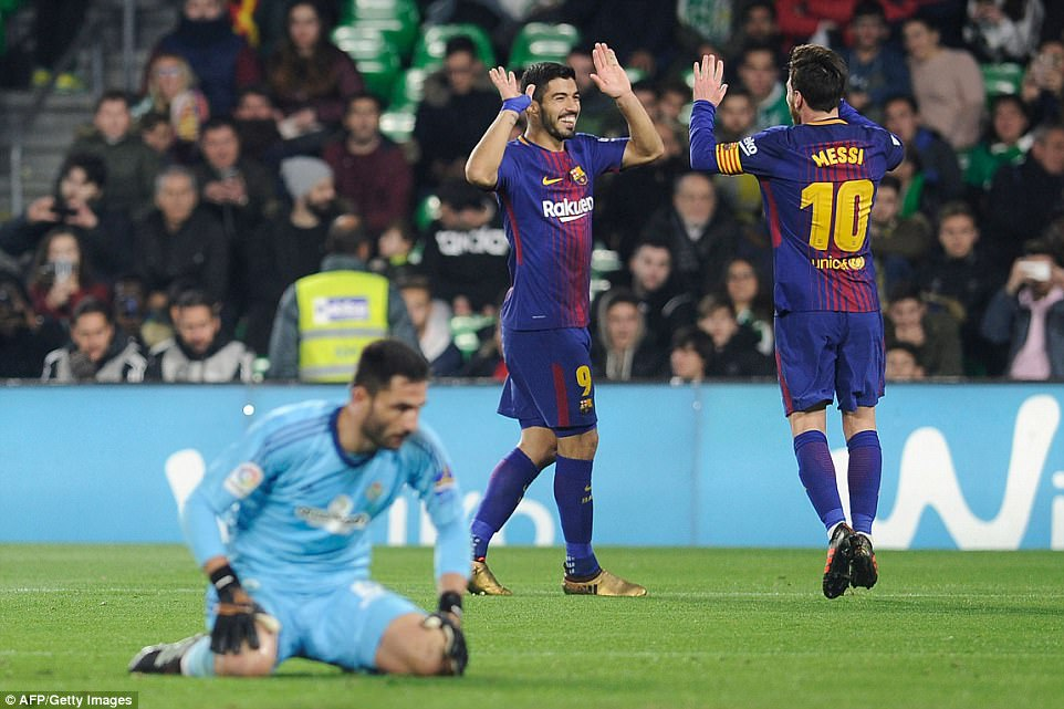 The duo proved too much for Real Betis to handle as Barcelona ran away with the game in the second half