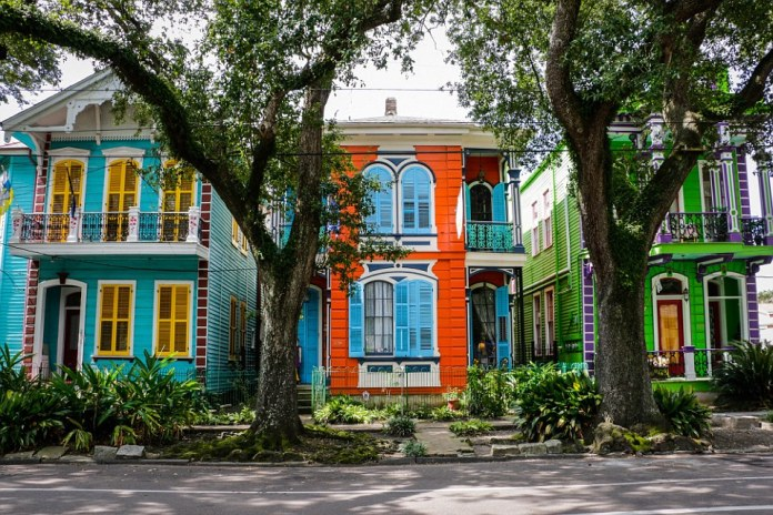 The brightly coloured La Belle Esplanade in the US city of New Orleans was highly rated globally in the B&B category