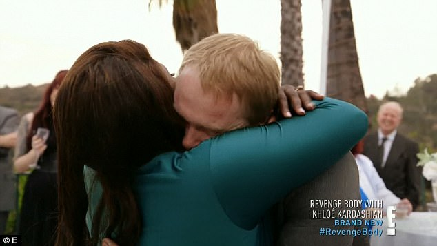 Life changer: Toby hugged Shayla after proposing at her big reveal party