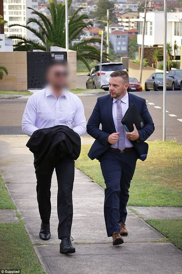 Magistrate Jennifer Giles denied Mehajer (pictured, left, with a police detective after his arrest) bail at Waverley Local Court in Sydney's east on Wednesday morning