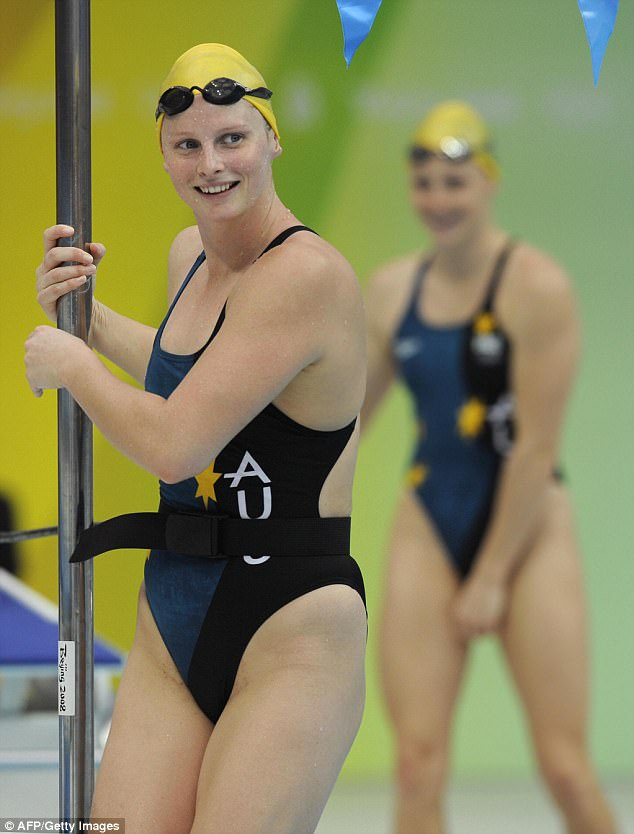 At the time, the newspaper suggested whether the then-26-year-old  could fit into her swimsuit as well as she did four years earlier at the Beijing Olympics (pictured in 2008)