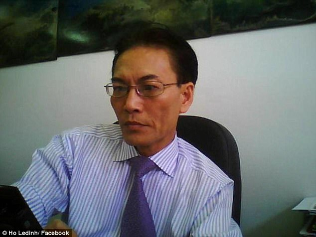 Vietnamese-born lawyer Ho Ledinh (pictured) was killed while dining at the Happy Cup Cafe in Bankstown's Old Town Plaza at 4pm on Tuesday after a gunman shot him several times in the pelvic region