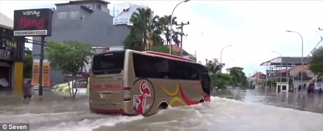 The roads have been transformed into rivers and residents in some low-lying regions have been forced to evacuate
