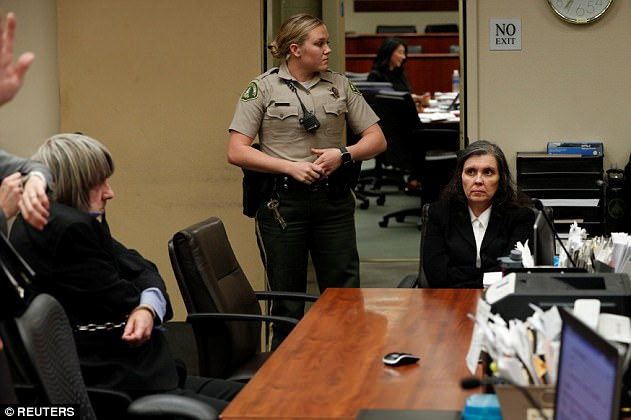David Turpin (L, seated) and Louise Turpin appear in court in Riverside, California