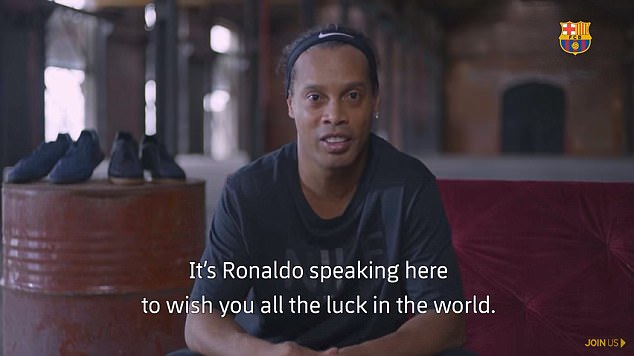 Ronaldinho wished compatriot Philippe Coutinho the best of luck before he makes his debut