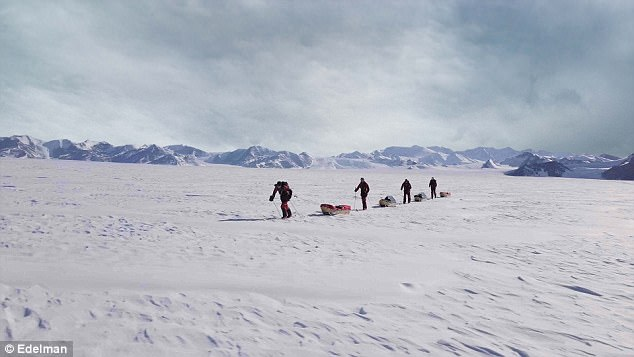 The pair trekked with two others for 57 days across the Antarctic wilderness facing temperatures as low as -40C (-40F)