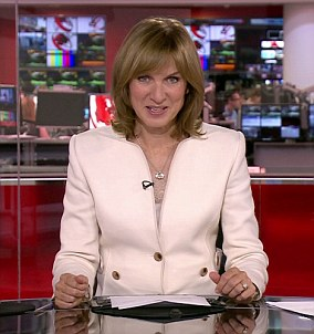 Fiona Bruce , who is also the presenter of Antiques Roadshow, earns between £350,000 and £399,999