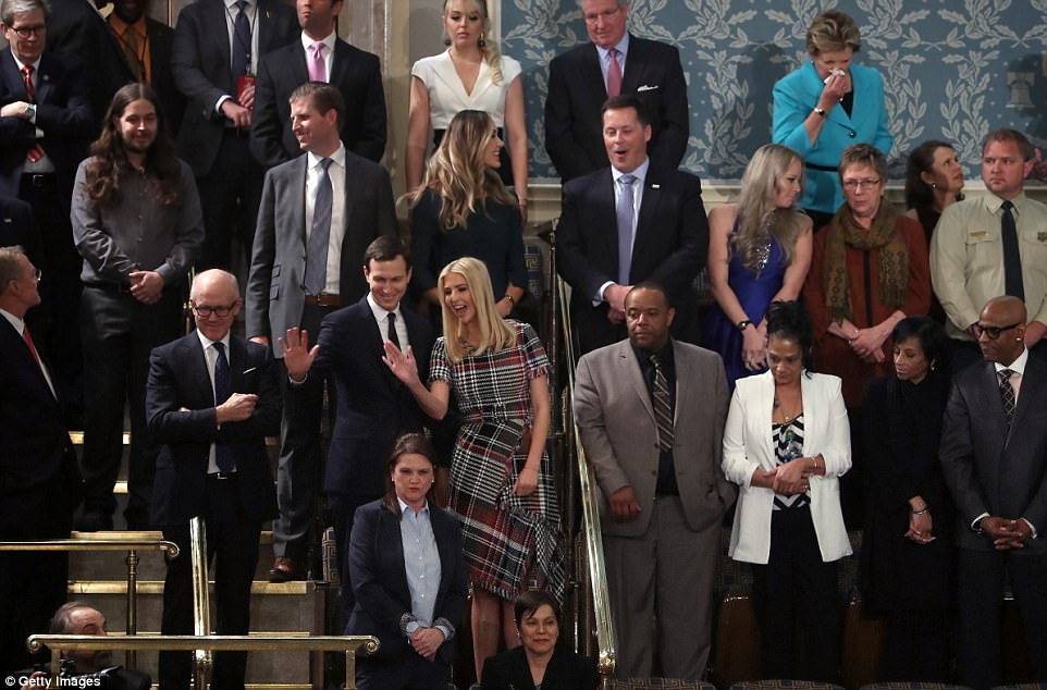 Kushner and Ivanka Trump arrive before the State of the Union address