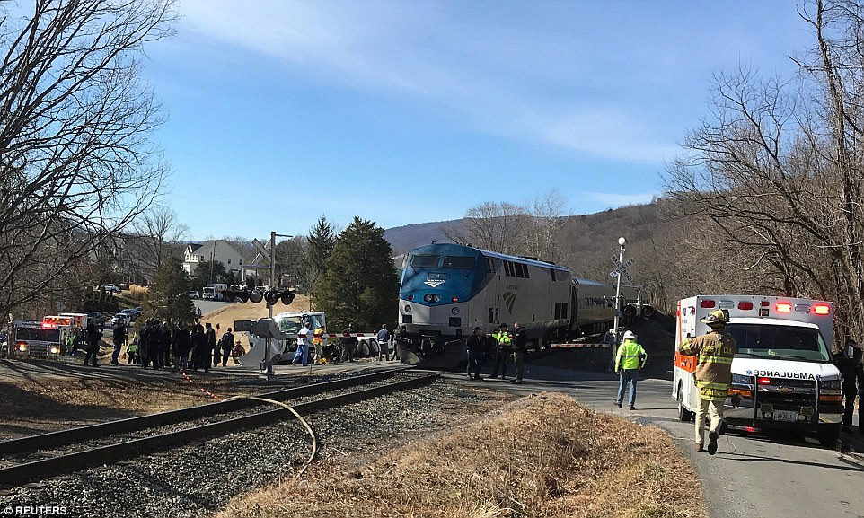 After the scene was cleared, the train continued on to Charlottesville, Virginia