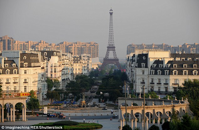 Tianducheng, in eastern China's Zhejiang Province, has been built to look like Paris