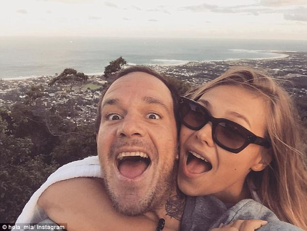 Former Bra Boy Koby Abberton, pictured with wife Olya Nechiporenko, was fined $1,000