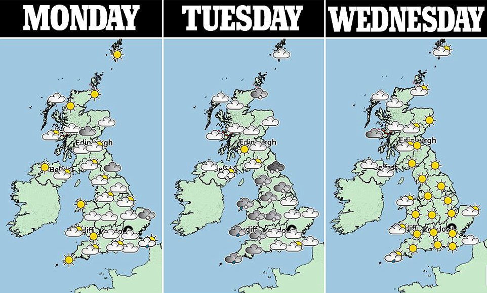 The cold snap is expected to grip Britain until at least next weekend, with the chance that milder weather may not arrive until the middle of the following week