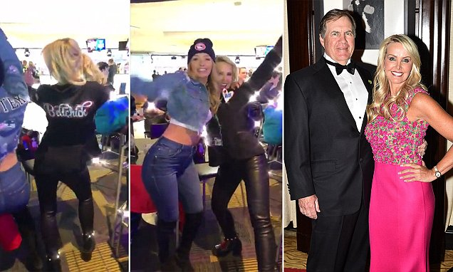 Bill Belichicks Girlfriend Dances Before Super Bowl