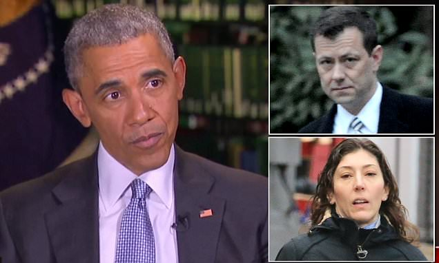 FBI lovers texts show Obama wanted info on Clinton probe