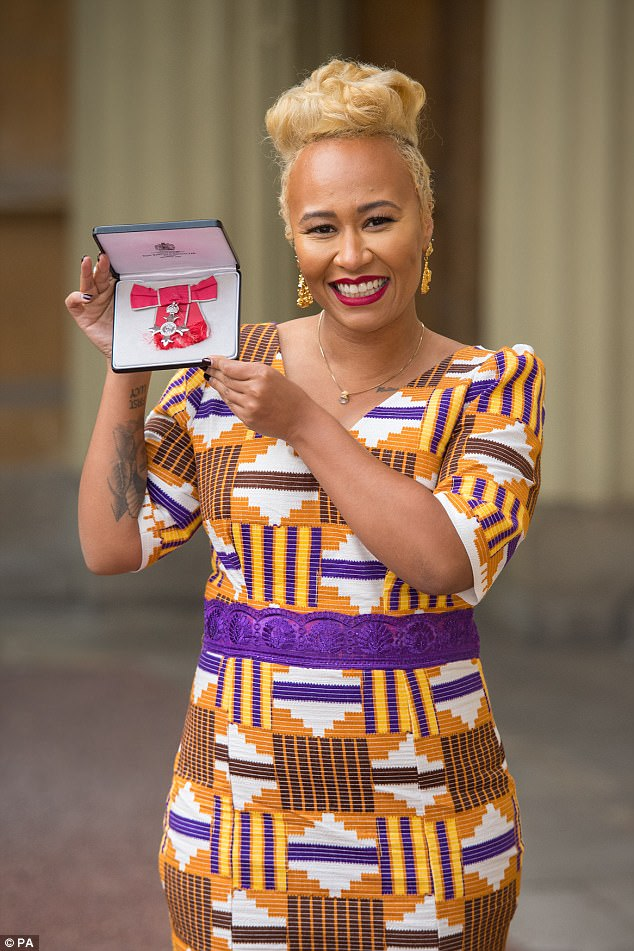 Awards:The Scottish singer, 30, has received several accolades in her time, including four BRIT Awards and three MOBO Awards, and was undoubtedly thrilled to add an MBE to her list