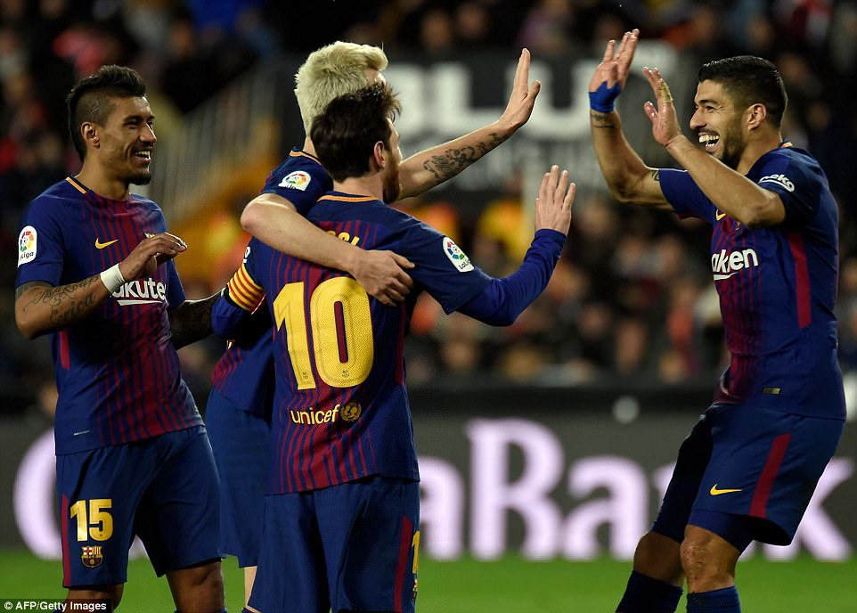 The Catalan club are through to the final and will play Sevilla in the Copa del Rey showpiece