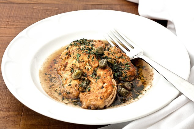 Calves' brains, black butter and capers.Bourgeois French food at its best