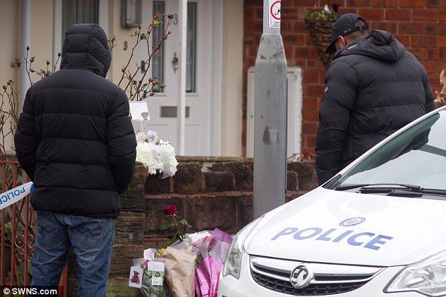 Jasmine's fatherSimeon Forrester (pictured right) was seen at the scene of his daughter's murder where he left a floral tribute to her
