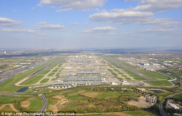 Mohamud, 31, has a criminal record stretching back 11 years including robbery, assault, money laundering and threats to kill (file photo of Heathrow airport)