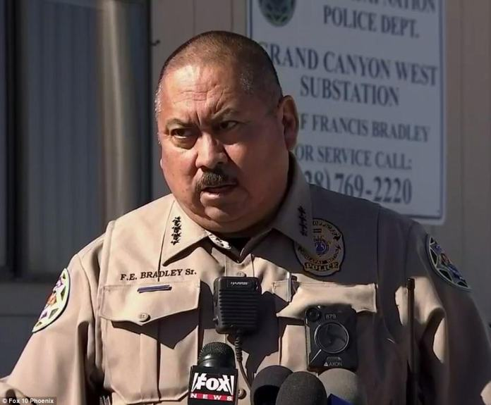 Hualapai Nation Police Chief, Francis Bradley Sr. (pictured) confirmed on Sunday the passengers who died were from the UK