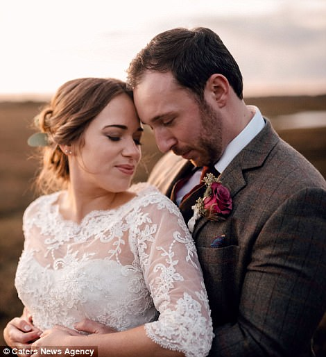 Jonathan Udall and his wife Ellie Milward went on the trip as part of their honeymoon after getting married last year