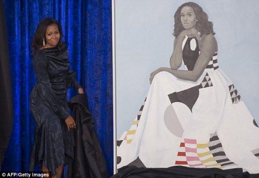 Muchos no quedaron impresionados cuando el retrato de Michelle Obama fue presentado el lunes