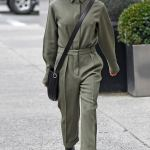 Victoria Beckham In Military Style Jumpsuit at NYFW