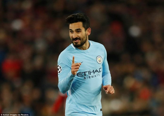 Ilkay Gundogan scored twice as Manchester City thrashed Basle 4-0 in the first-leg of their last-16 Champions League tie
