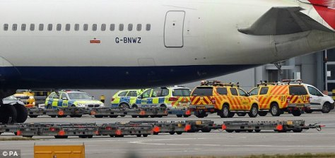 Passengers were told to leave an aircraft which was unable to take off because of the incident