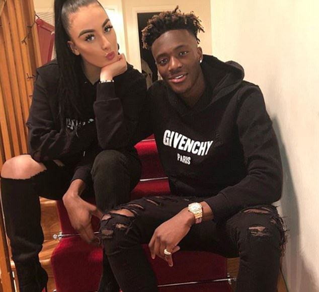 Tammy Abraham and girlfriend Leah Monroe are celebrating their fourth Valentine's Day