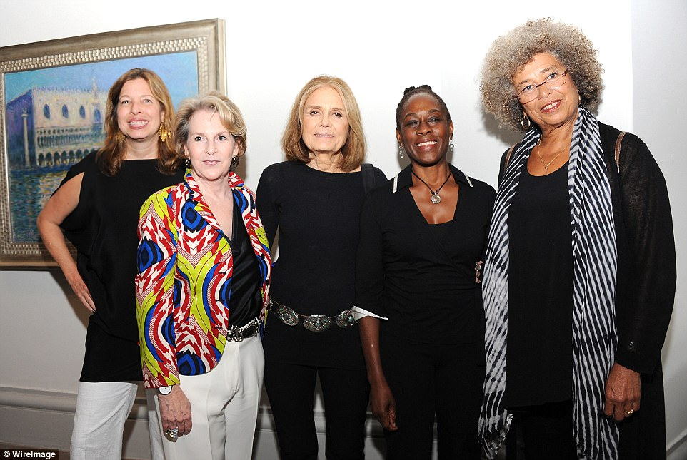 Like their parents, cousins Elizabeth and Richard both have set up charitable funds in their names. Websites are not available for either. Elizabeth Sackler (second from left) is pictured with (from left) Director of the Brooklyn Museum Anne Pasternak, activist ((((((Gloria Steinem)))))), First lady of new York City Chirlane McCray and honoree Angela Y Davis at the 2016 Brooklyn Museum's Sackler Center First