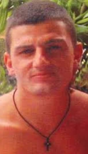 Hawi was found guilty in 2011 of murdering 29-year-old Anthony Zervas (pictured) inside Sydney Airport - bashing him with a bollard during a brawl between the rival clubs