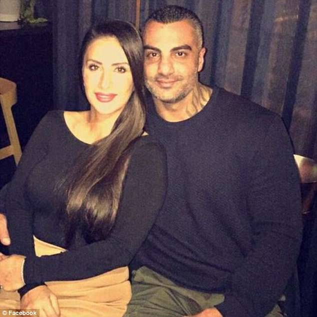 Mahmoud 'Mick' Hawi is pictured with his wife Carolina Gonzaelz, who he started dating in High School
