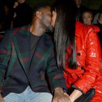 Idris Elba and fiancée Sabrina Dhowre Pack on the PDA at LFW