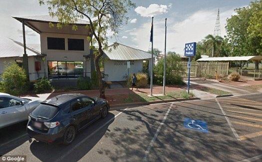 La policía dijo que no había otros sospechosos en relación con la presunta agresión sexual de la niña (en la foto está la estación de policía de Tennant Creek)