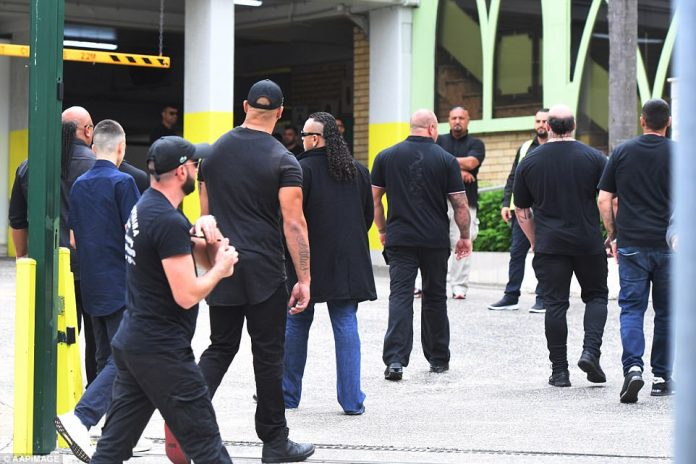 Hundreds of people arrived at a mosque in Arncliffe to mourn the former bikie boss a week after he was shot dead