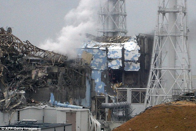 Wreckage: A destroyed reactor at the Fukushima nuclear plant after the 2011 earthquake and tsunami which caused the worst nuclear disaster on the planet since Chernobyl