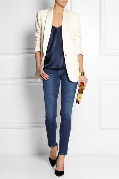 Karlie Kloss Rocks A Blazer And Skinny Jeans At Peter