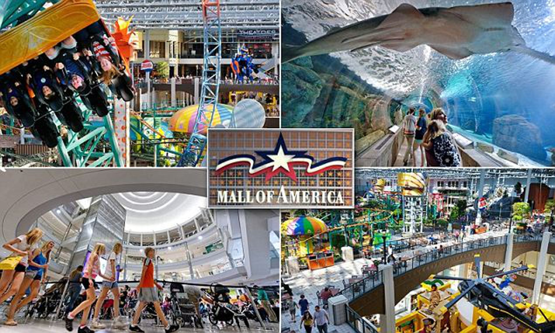 Inside The Mall Of America Rollercoasters Sharks And Even Weddings Daily Mail Online