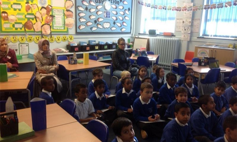 Students at Barclay Primary School. ─ Photo source: BPS website