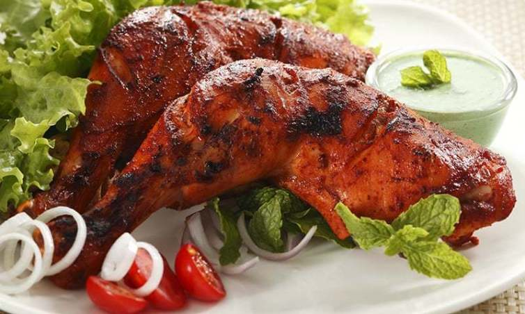 Order Tandoori Chicken In Train