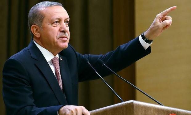 Turkey's President Recep Tayyip Erdogan speaks during an event for foreign investors, in Ankara. —AP