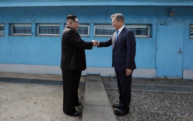 Image result for Korean leaders hold historic summit Happy People Korean