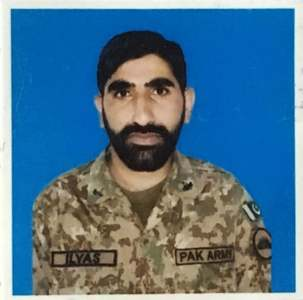 Sepoy Muhammad Ilyas was martyred in an exchange of fire on the Pak-Afghan border on Nov 9. —Photo courtesy ISPR.