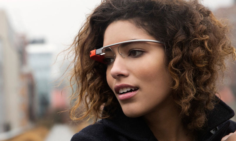 Picture shows user wearing Google Glass. - File Photo