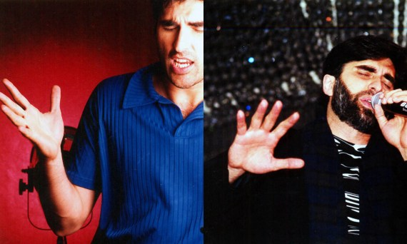 Junaid Jamshed poses in the studio on two different occasions